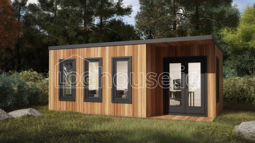 Kildare Contemporary Log Cabin Exterior