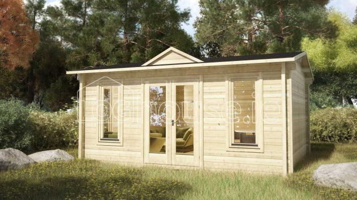 Kilkenny Log Cabin Exterior