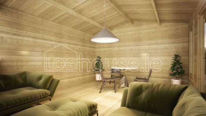 Kilkenny Log Cabin Interior