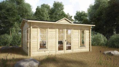 Kilkenny Log Cabin Exterior Side