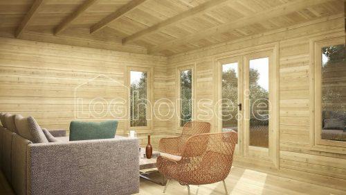 Kilkenny Log Cabin Interior Side