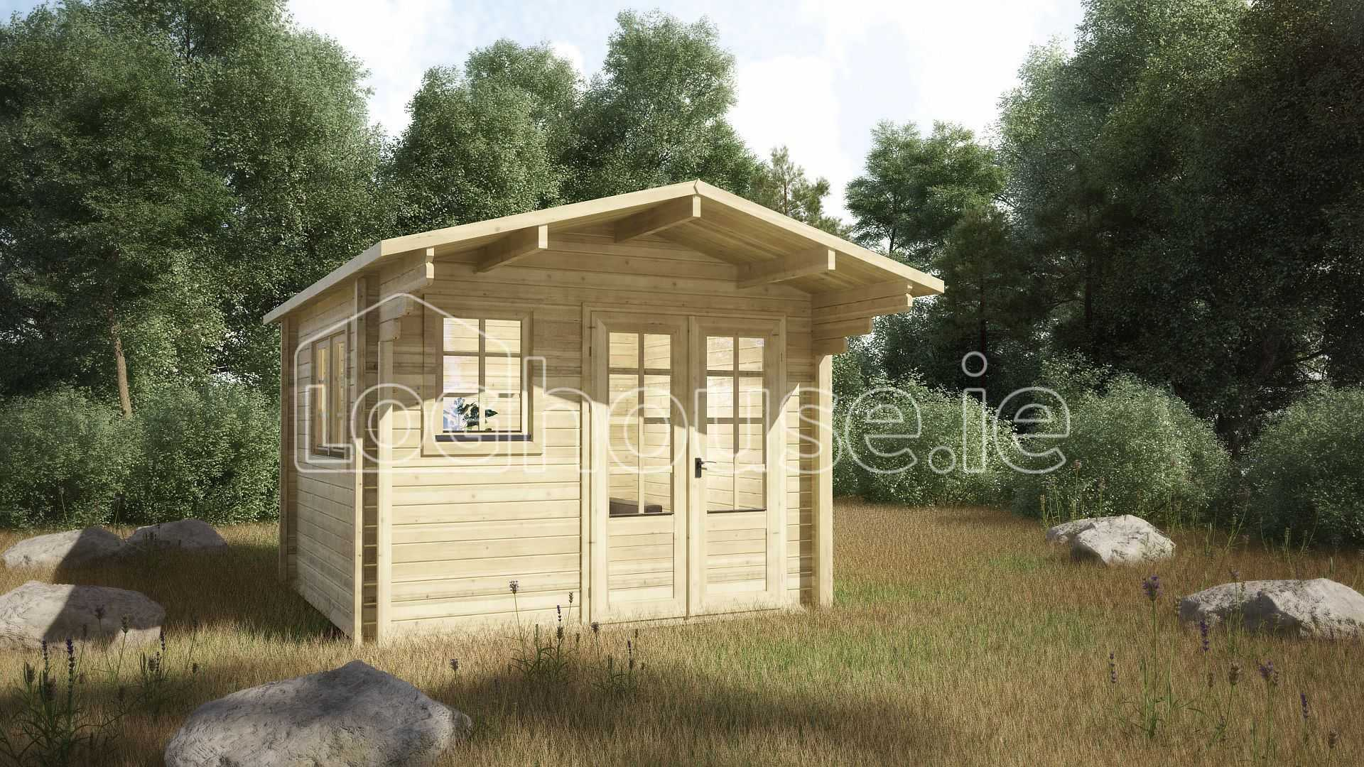 Laragh Log Cabin Exterior