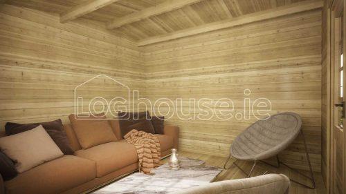 Leitrim Log Cabin Interior