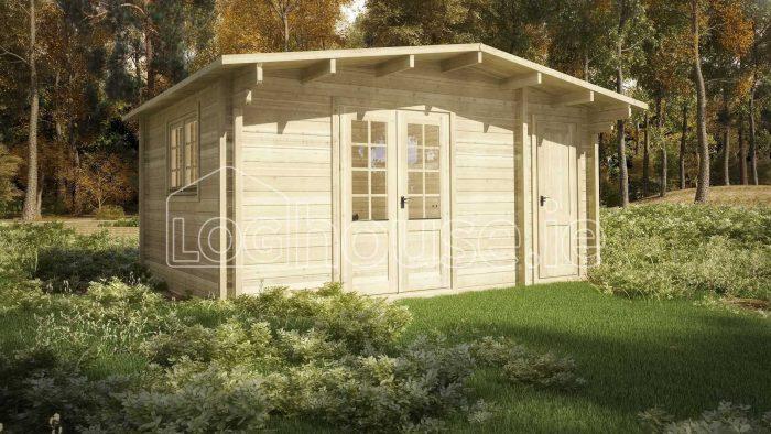 Leitrim Log Cabin Exterior
