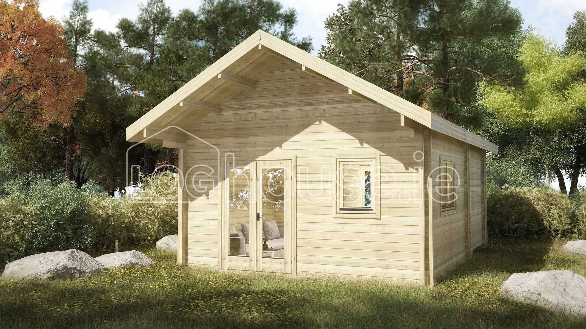 Loft log cabin a x 6m for Loft cabins