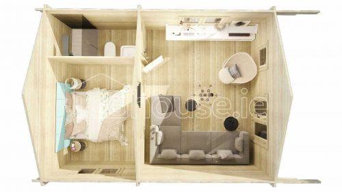 Loft Cabin A Plan