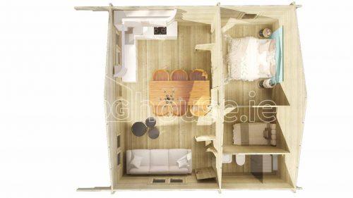 Loft Cabin B Plan