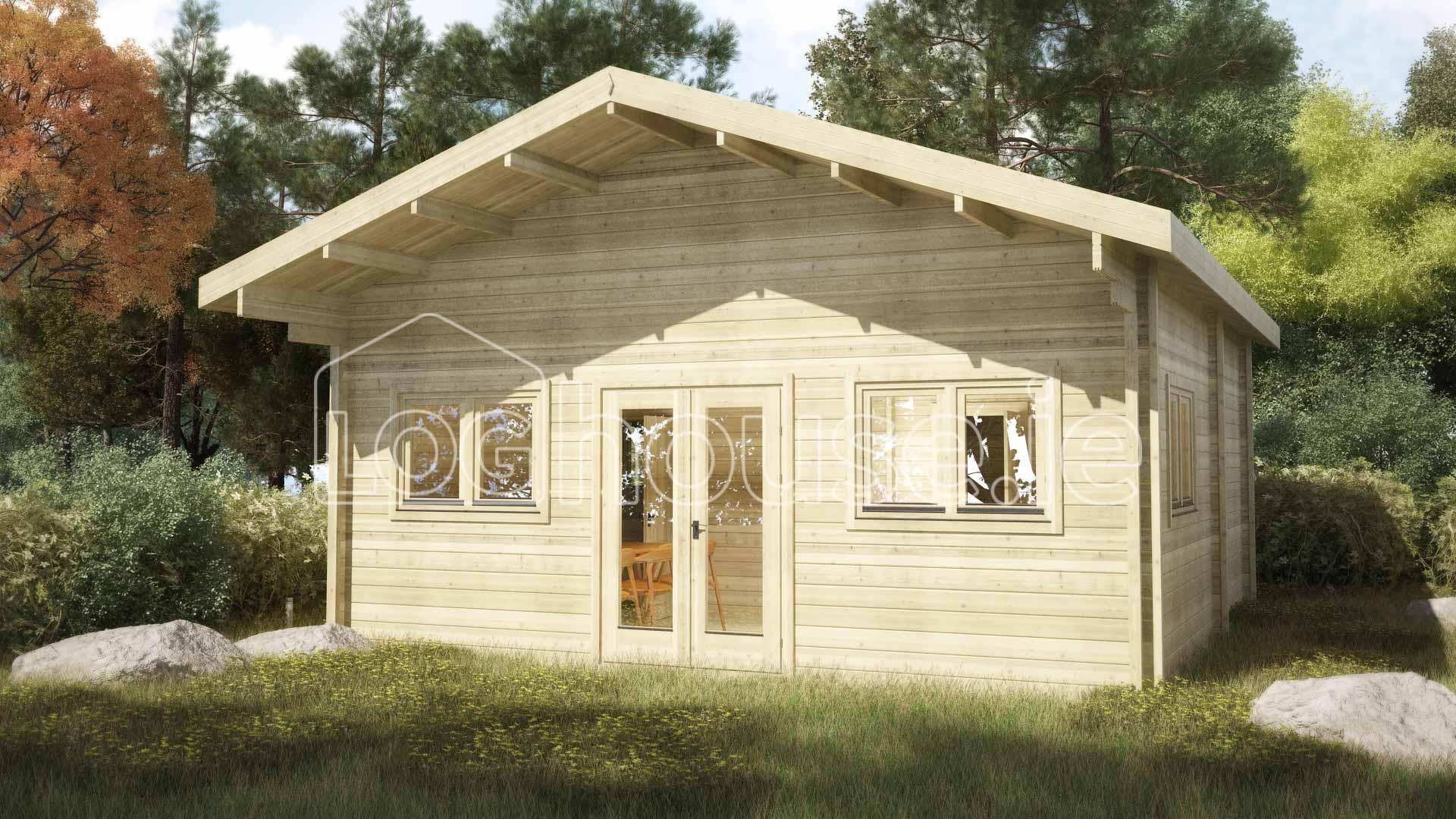 Loft log cabin b 6m x 6m for Loft cabins for sale