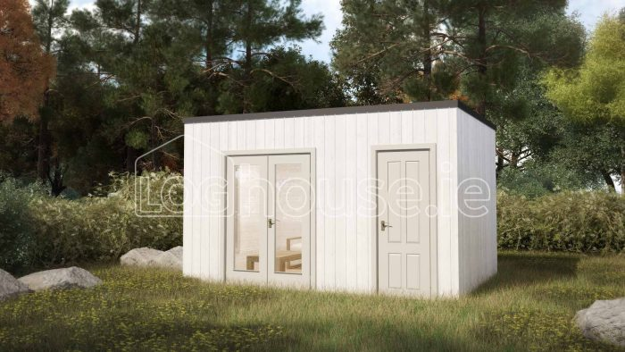 Louth Contemporary Log Cabin Exterior