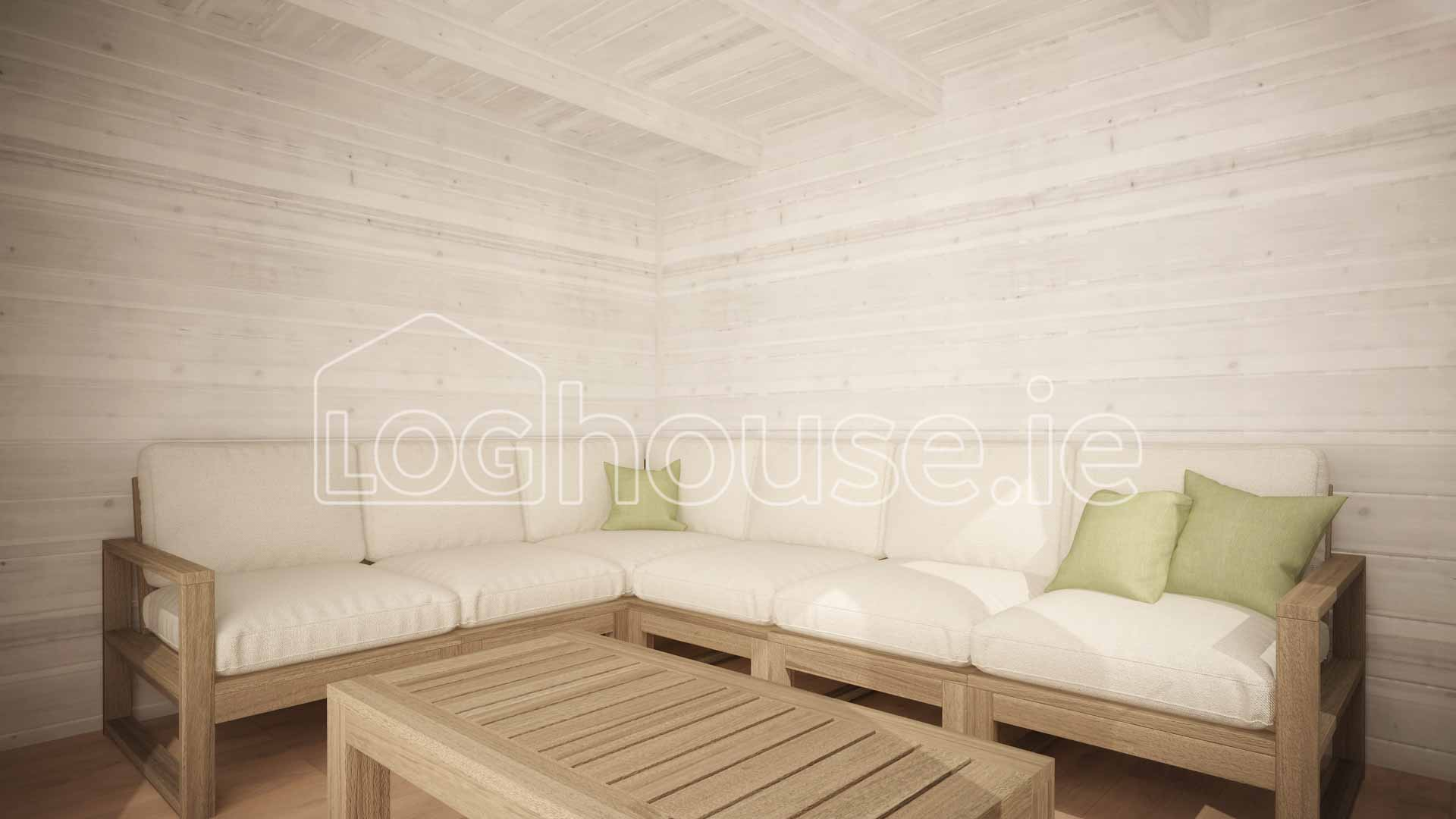 LOUTH CONTEMPORARY LOG CABIN 4m X 3m | Loghouse.ie