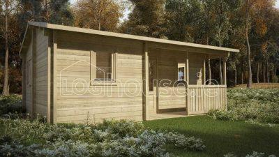 Malahide Log Cabin Exterior