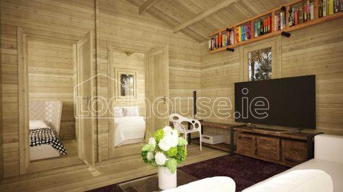 Malahide Log Cabin Interior