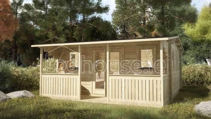 Newbridge Log Cabin Exterior