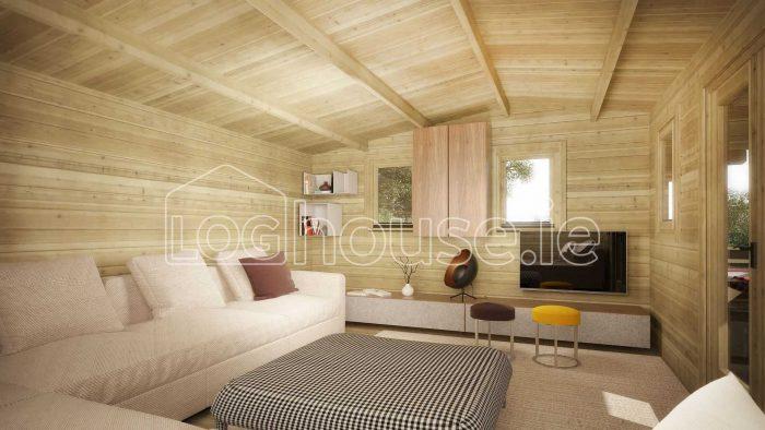 Newbridge Log Cabin Interior
