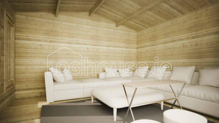 Newcastle Log Cabin Interior