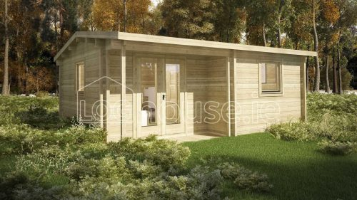 One Bed Type C Log Cabin Exterior