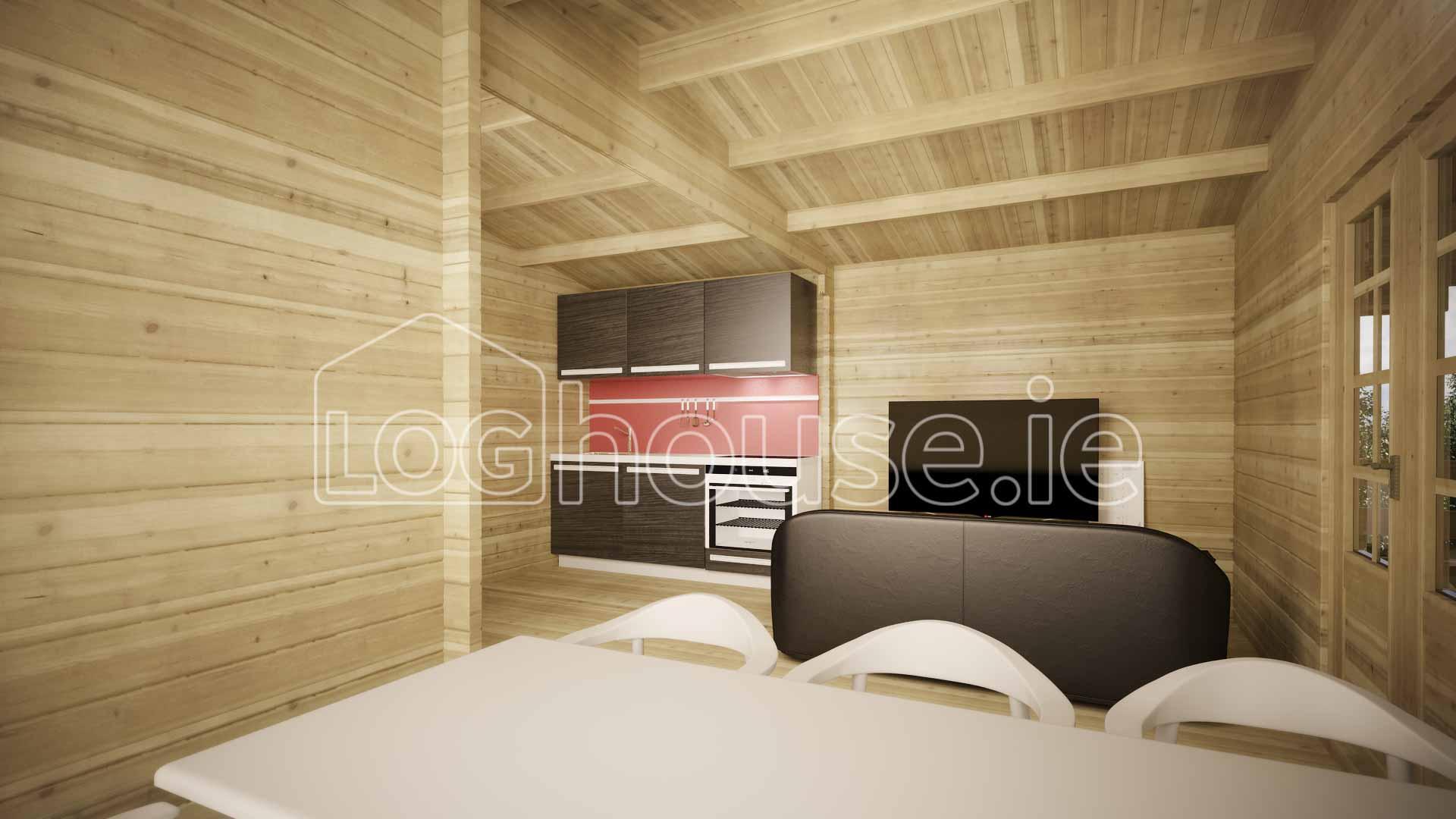 Palmerstown Log Cabin Interior
