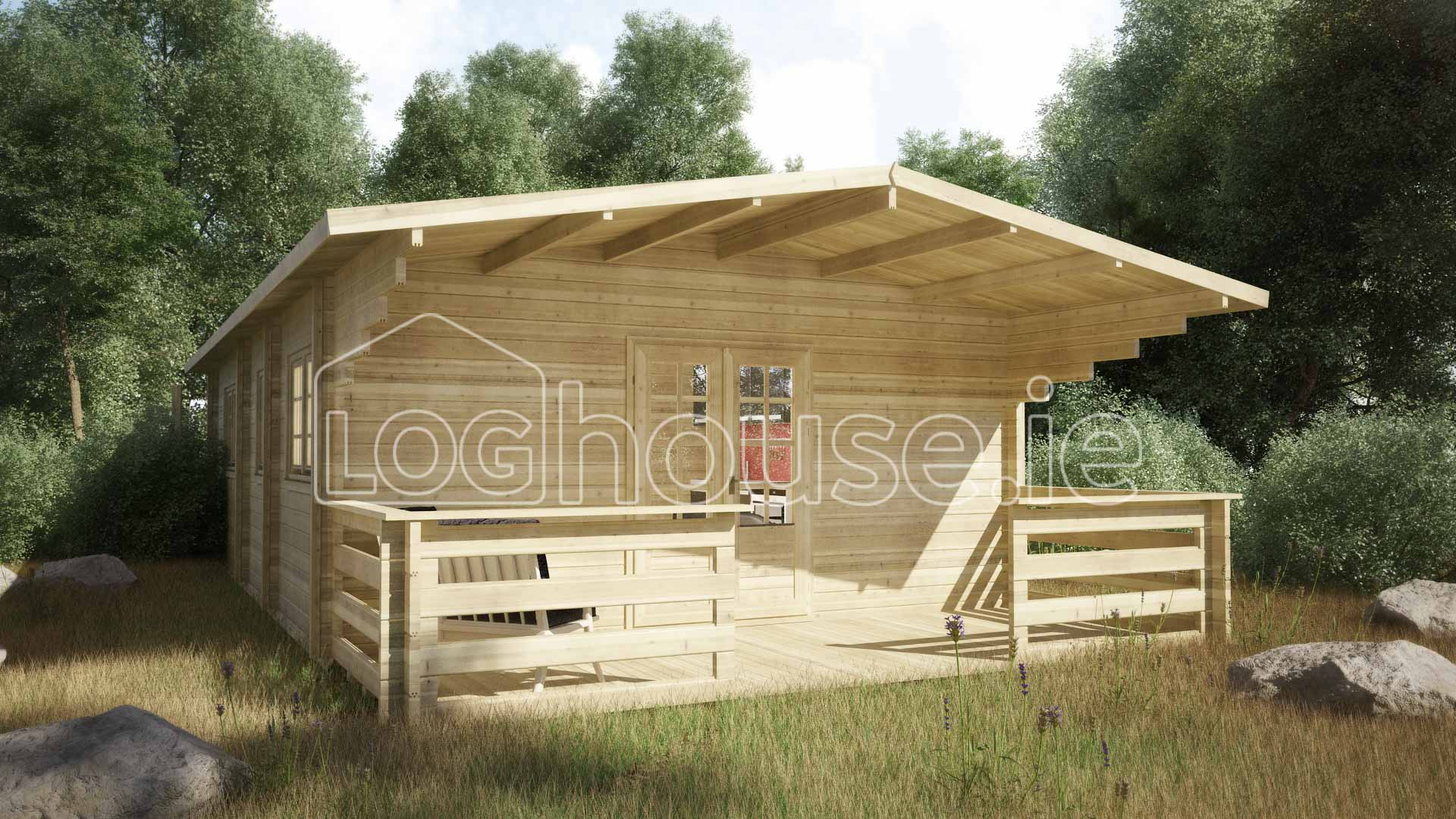 Budget two bed a log cabin x for House log