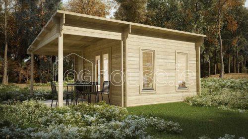Rathcooler Log Cabin Exterior