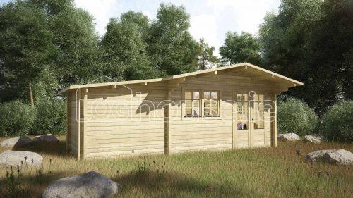 Rathmines Log Cabin Exterior