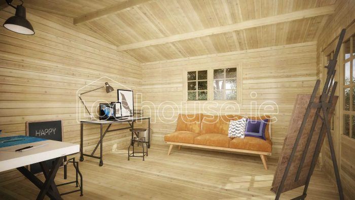 Rathmines Log Cabin Interior