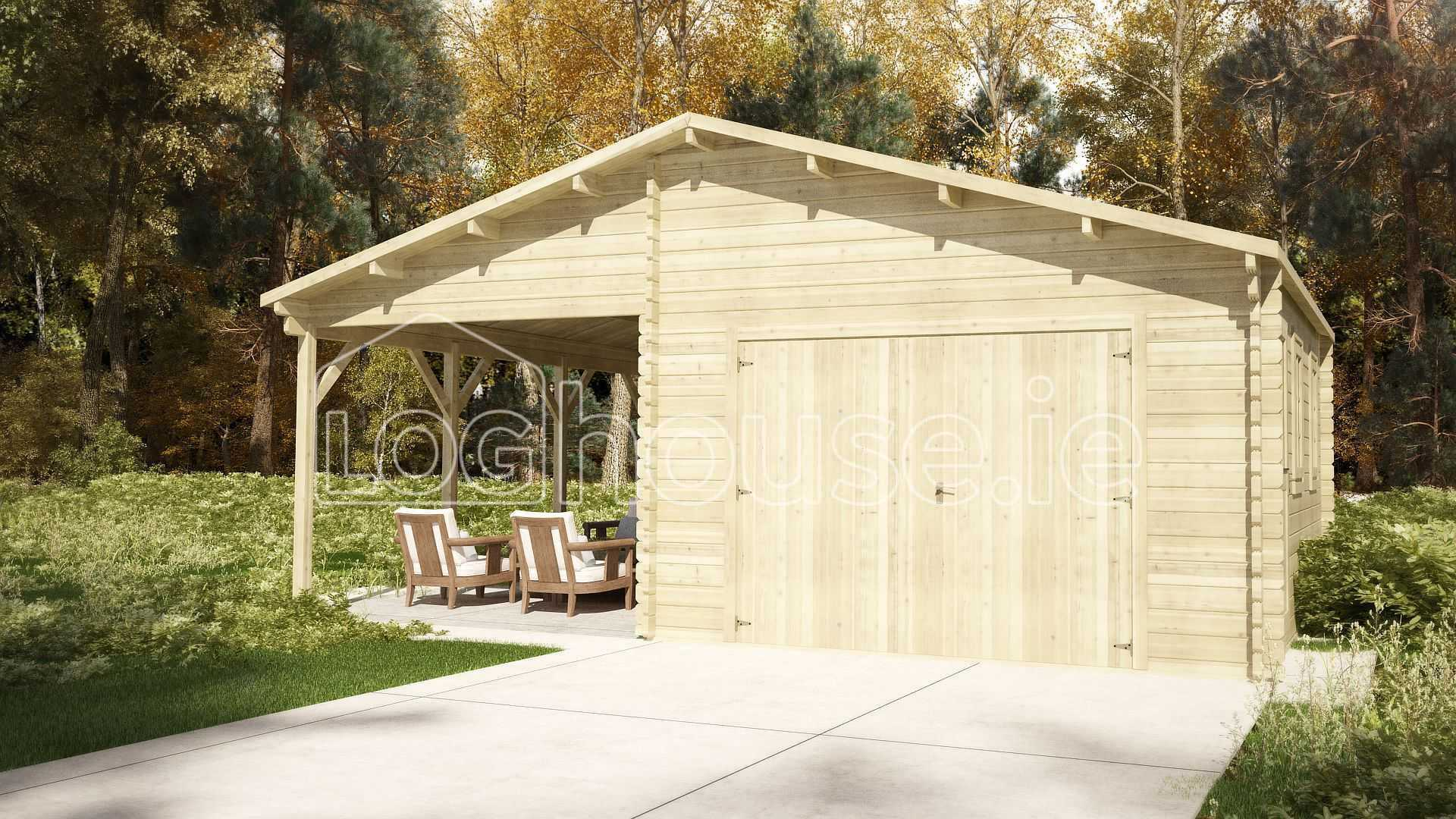 Saggart garage log cabin x Garage cabins