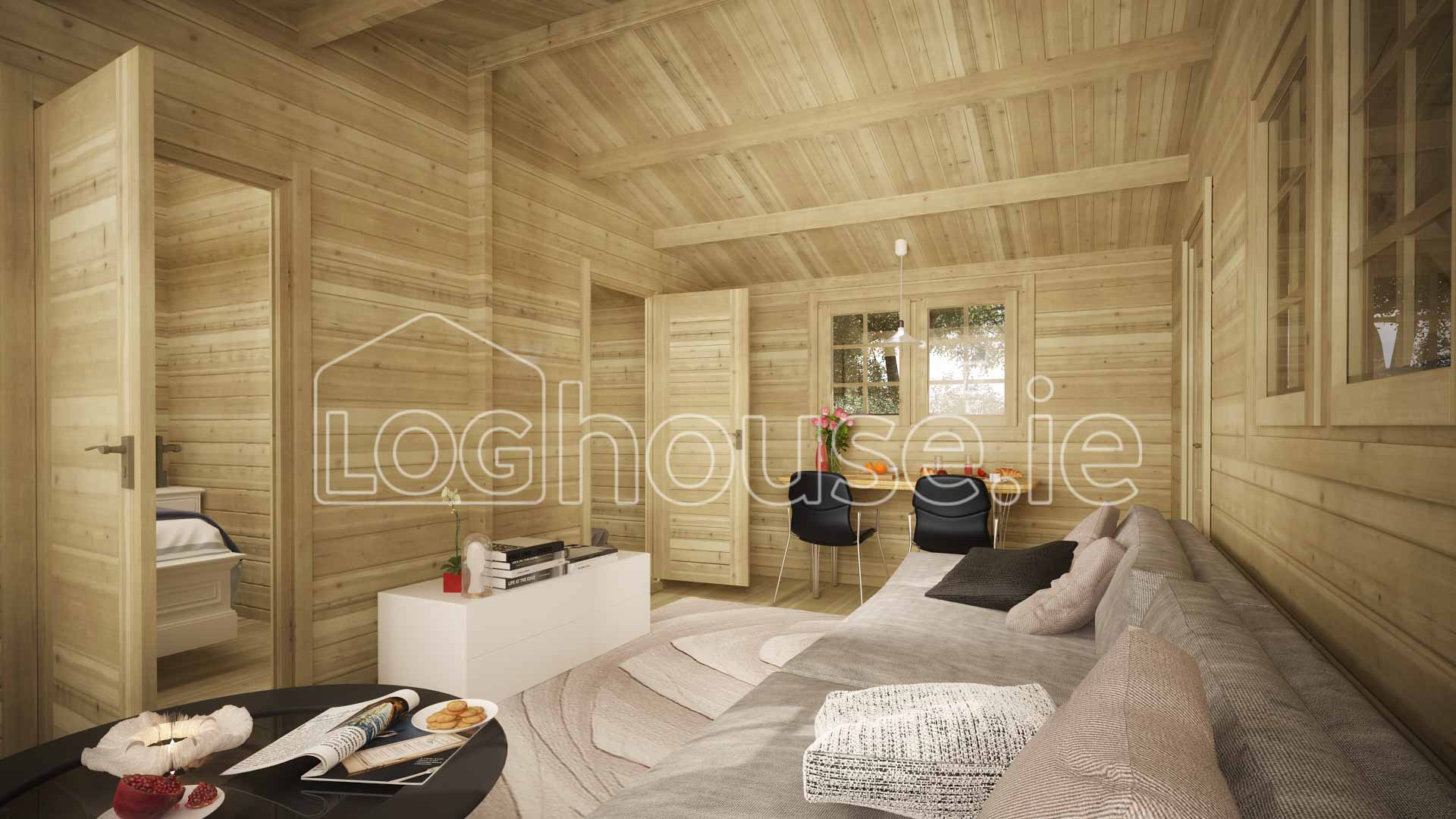 Sandyford Log Cabin Interior