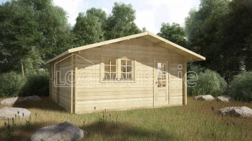 Sandyford Log Cabin Exterior