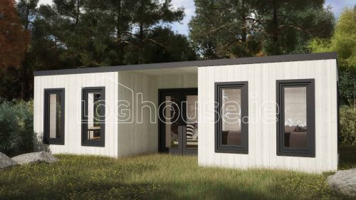 Sligo Contemporary Log Cabin Exterior