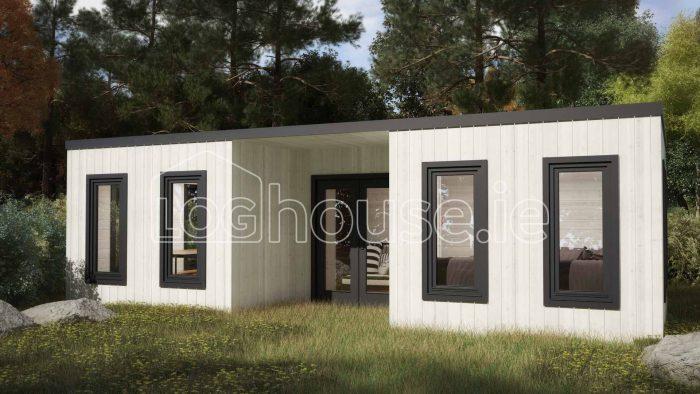 Sligo Contemporary Log Cabin Exterior