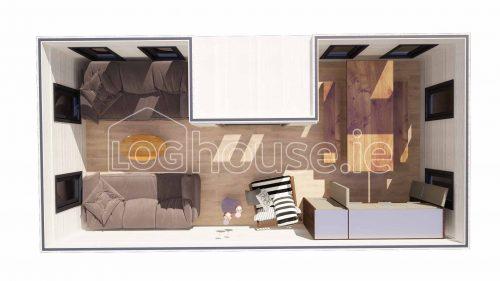 Sligo Contemporary Log Cabin Plan