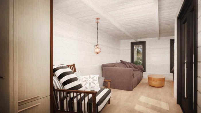 Sligo Contemporary Log Cabin Interior