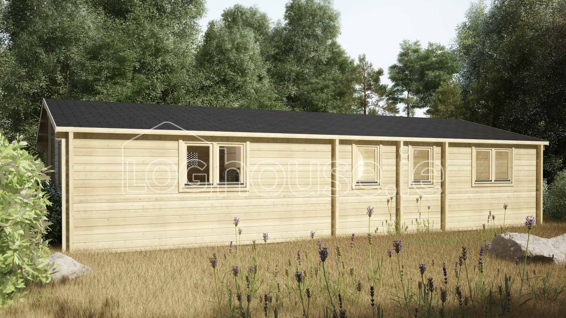 Three Bed Type B Log Cabin 6m X 11m Loghouse Ie