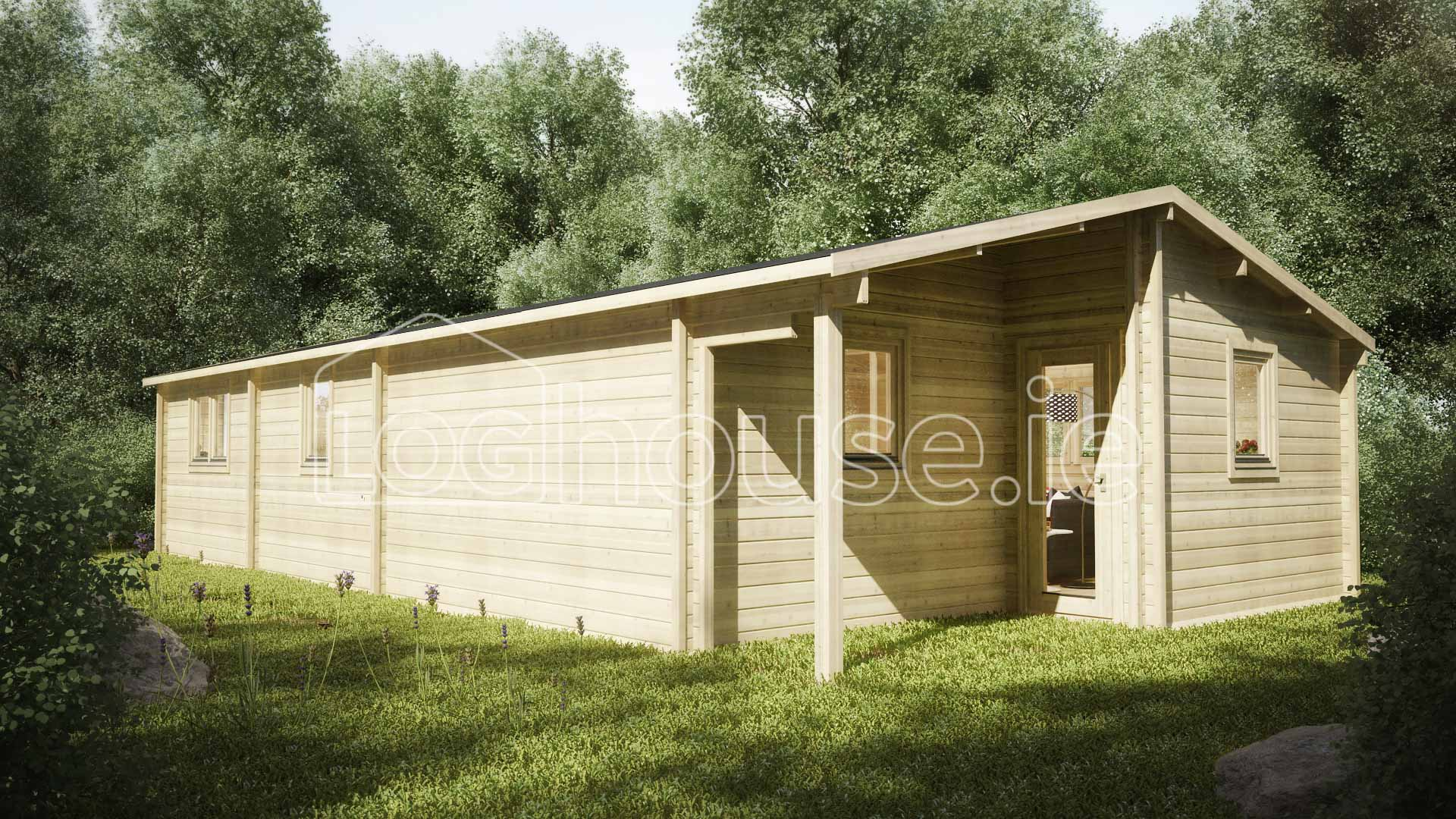 Three bed type b log cabin 6m x 11m for 3 bed log cabins for sale