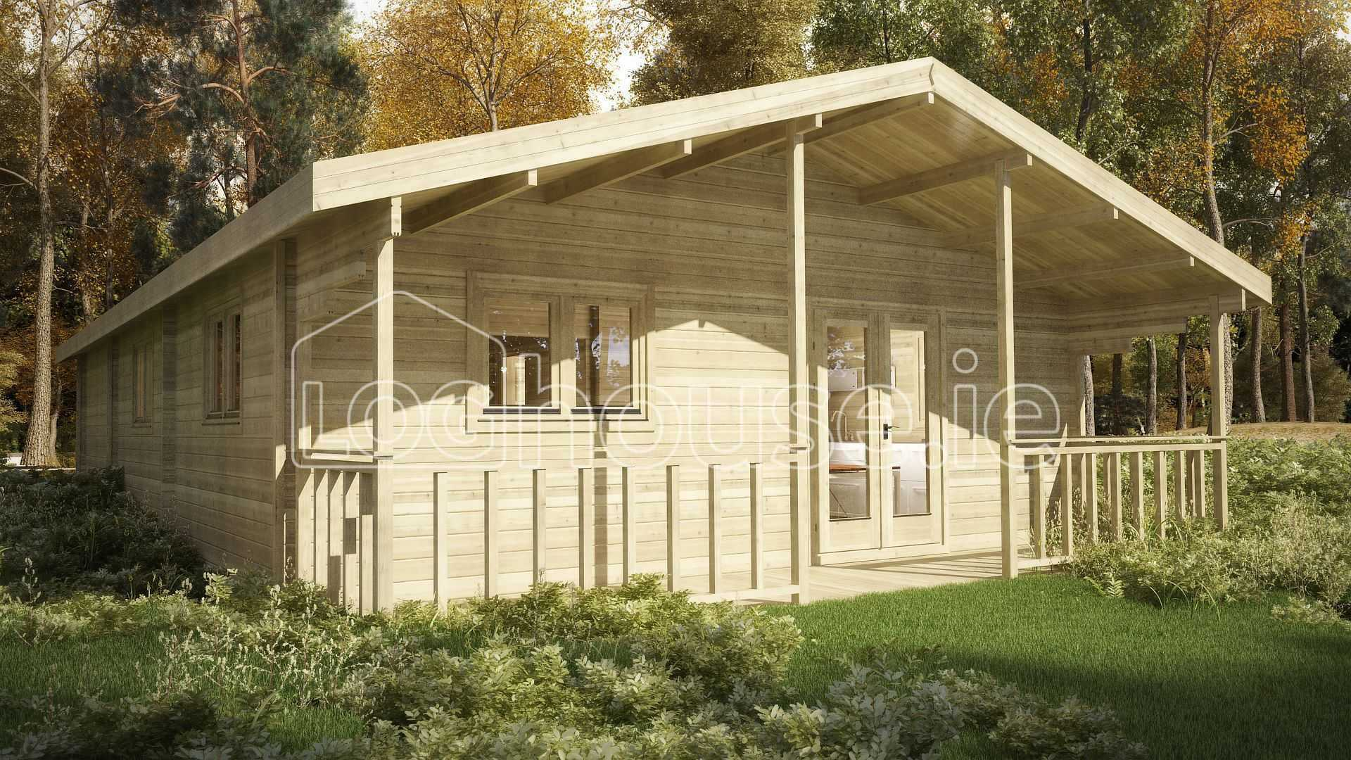 Three bed type a log cabin 7m x for 3 bed log cabins for sale