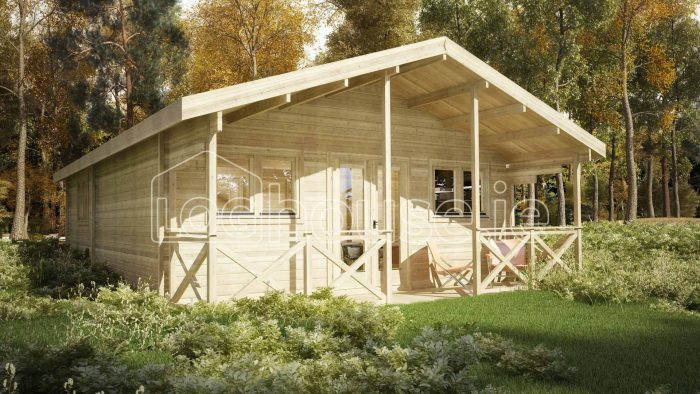 Two bed Type C Log Cabin Exterior