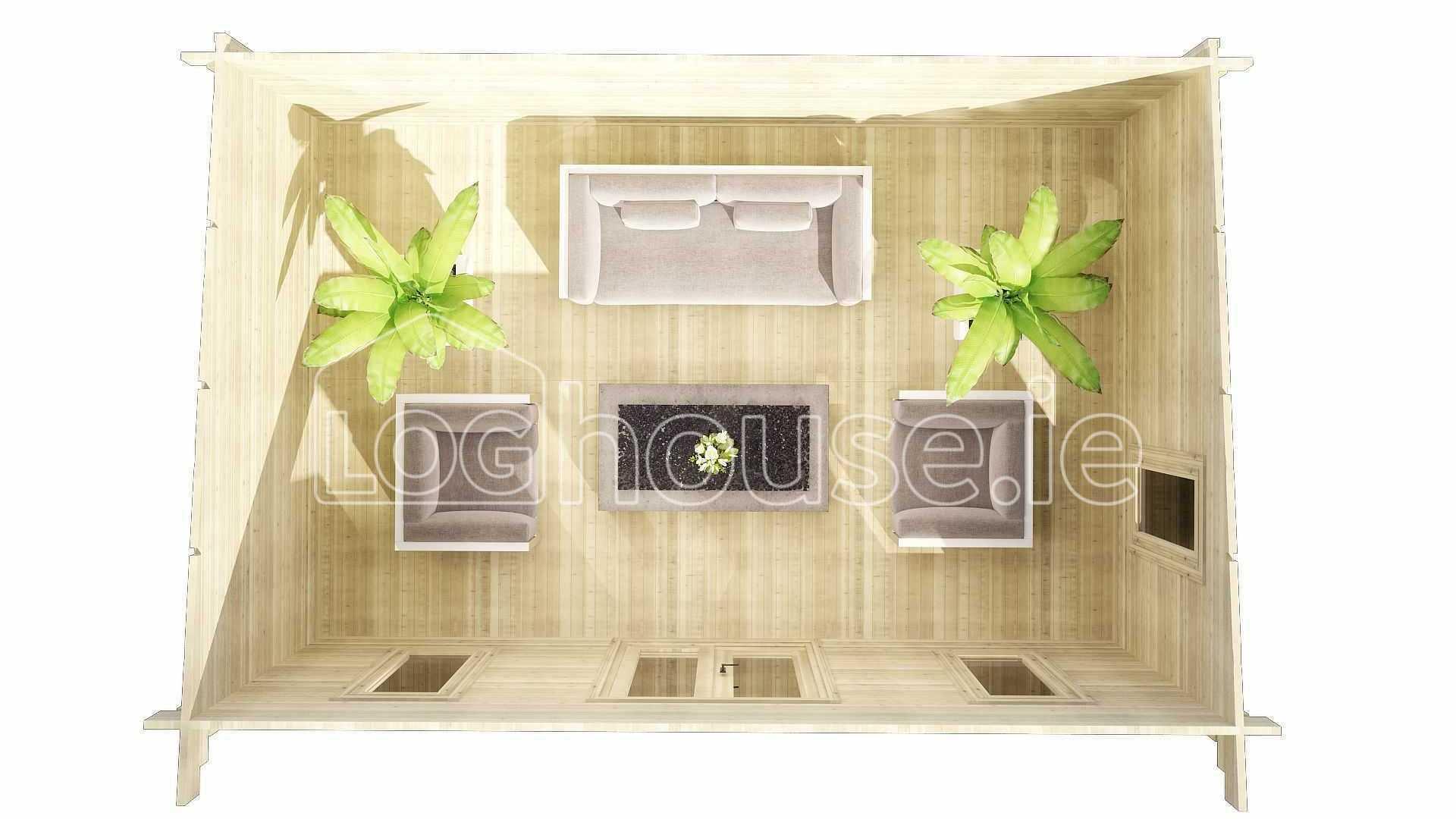 Wicklow Log Cabin Floor Plan