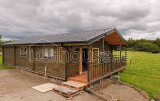 Three Bed Type A Log Cabin Outside Side
