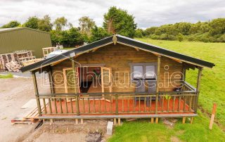 Three Bed Type A Log Cabin Outside Front