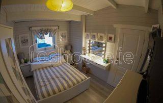Log Cabin One Bed Type C Bedroom