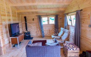 Three Bed Type A Log Cabin Living Room