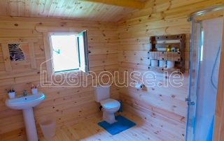 Three Bed Type A Log Cabin Toilet