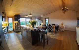Four Bed Log Cabin Living Room