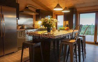 Four Bed Log Cabin Living Room 6