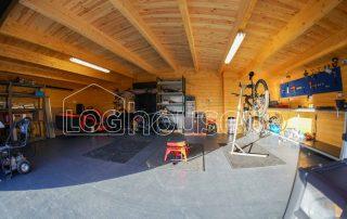 Garage Log Cabin Inside 2