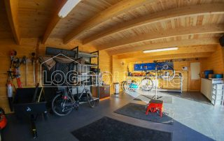 Garage Log Cabin Inside