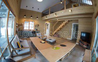 Glulam Log Cabin House Interior 2