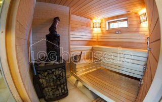 Glulam Log Cabin House Sauna Inside
