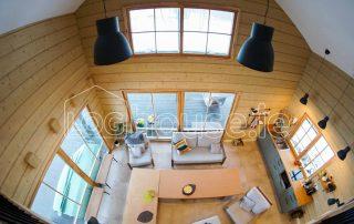 Glulam Log Cabin House Living Room
