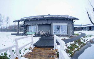 Glulam Log Cabin House Sauna